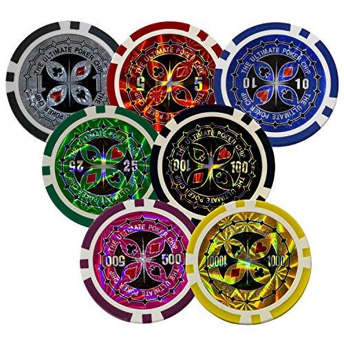 Maxstore-Coffret-de-Poker-Ultime-300-jetons-Lasers-12-g-avec-Insert-en-mtal-2-Jeux-de-Cartes-5-ds-1-Bouton-Dealer-Mallette-en-Aluminium-0-1