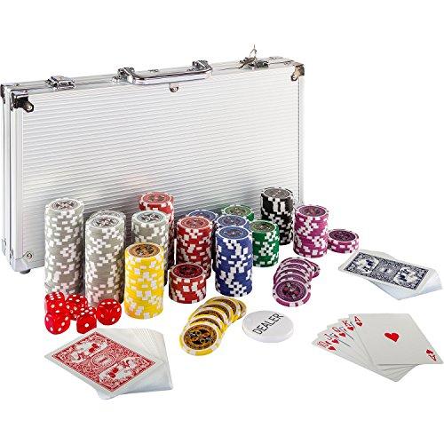 Maxstore-Coffret-de-Poker-Ultime-300-jetons-Lasers-12-g-avec-Insert-en-mtal-2-Jeux-de-Cartes-5-ds-1-Bouton-Dealer-Mallette-en-Aluminium-0