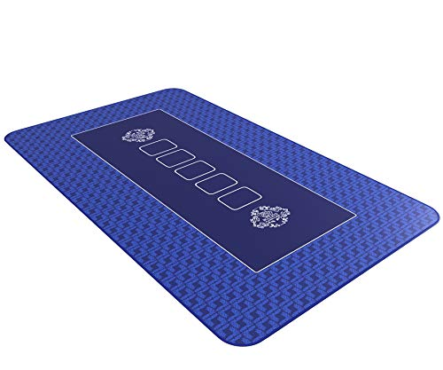 Bullets-Playing-Cards-Pro-Tapis-de-Poker-100x60cm-Bleu-de-0