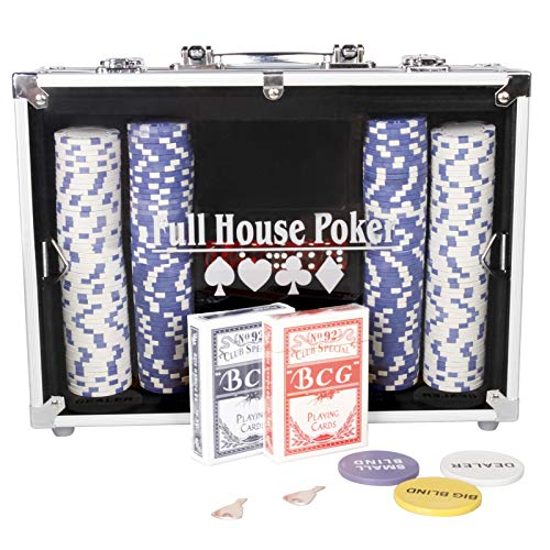 CCLIFE-Mallette-en-Aluminium-Jeton-de-Poker-avec-300500-pices-2-Jeux-de-Cartes-5-Ds-3-Dealer-et-1-Tapis-de-Poker-Size500-jetons-0