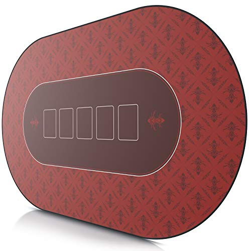 CSL-Tapis-de-Poker-Ovale-Rouge-1000x600mm-sous-Main-Bureau-Table-pour-Jeux-de-Poker-Taille-Large-XXL-Surface-en-Tissu-Base-antidrapante-Prcision-et-Confort-0