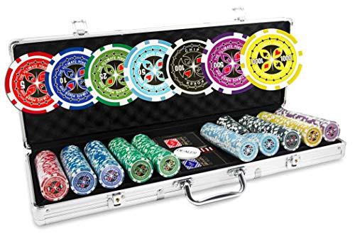 Malette-Poker-500-Jetons-Ultimate-Set-de-500-jetons-de-Poker-135g-Malette-Aluminium-2-Jeux-de-Cartes-100-Plastique-Bouton-Dealer-0