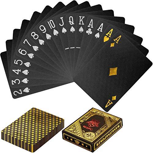 Maxstore-Cartes-de-Poker-en-Plastique-Design-100-impermable-Couleurs-Noires-et-dores-Deck-de-Poker-Jeux-de-Table-en-Plastique-0