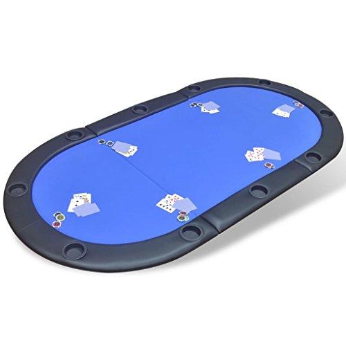 Tidyard-Dessus-de-Table-de-Poker-Pliable-pour-10-Joueurs-Solide-et-Durable-Bleu-0