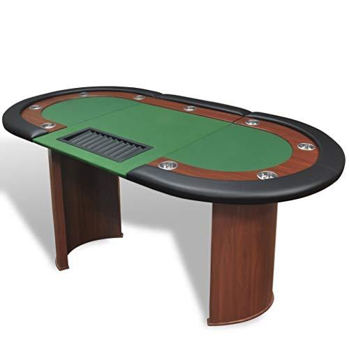 Directachat56-Table-de-Poker-Luxe9-Personnes-3-Couleurs-de-Tapis-au-Choix-Vert-0