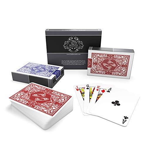Cartes-poker-plastique-Cartes–jouer-en-plastique-Pack-de-2-jeux-de-52-cartes–jouer-Cartes-tour-de-magie-Poker-franais-Index-standard-Qualit-suprieure-Cartes-waterproof-0