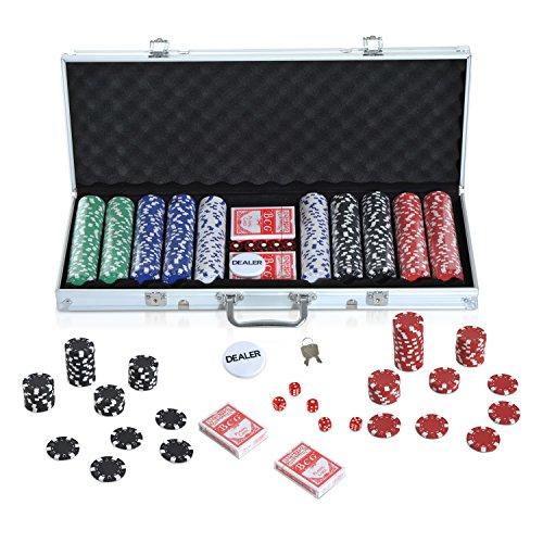 HOMCOM-Malette-Professionnelle-de-Poker-500-jetons-2-Jeux-de-Cartes-5-ds-Bouton-Dealer-2-cls-alu-0