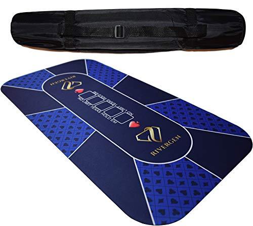Rivergen-Tapis-de-Poker-120-x-60-cm-Bleu-paisseur-3-mm-Sac-de-Transport-Inclus-Tapis-Poker-Texas-Holdem-Plateau-de-Poker-Antidrapant-Table-de-Poker-Pliable-Tapis-de-Cartes-0